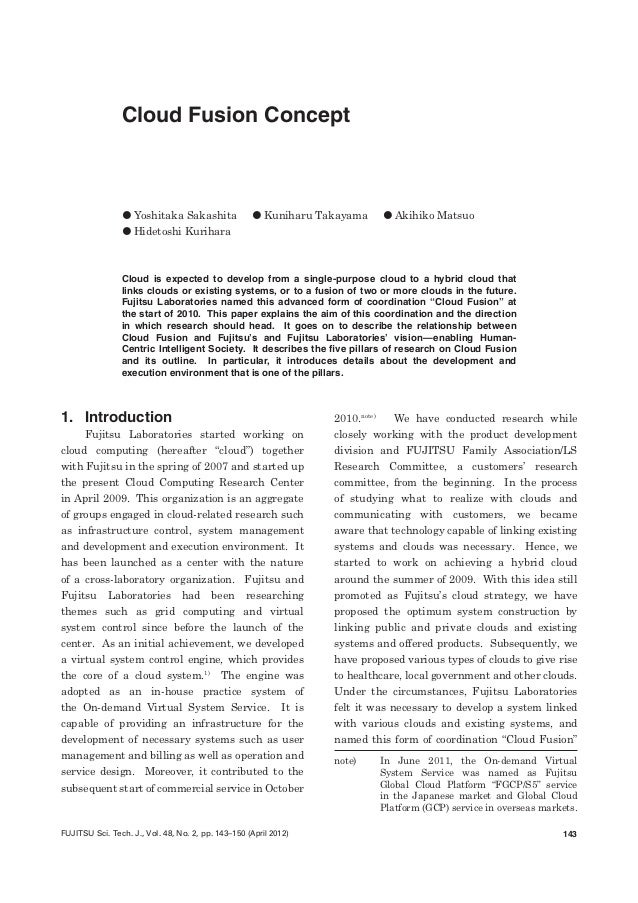 Cloud fusion concept fujitsu scientific tech journal april 2012