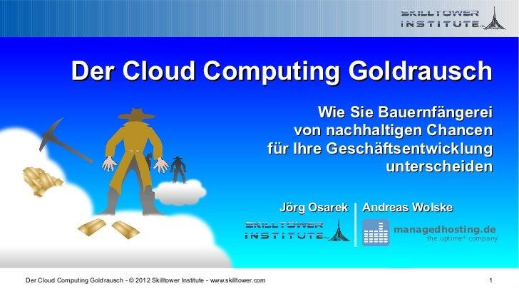 Der Cloud Computing Goldrausch - Bauernfaenger und echte Chancen