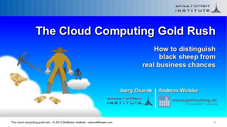 The cloud computing gold rush - distinguish black sheep from business chances