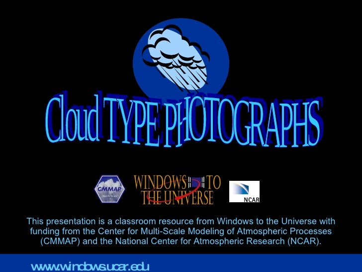 Cloud Type Photographs