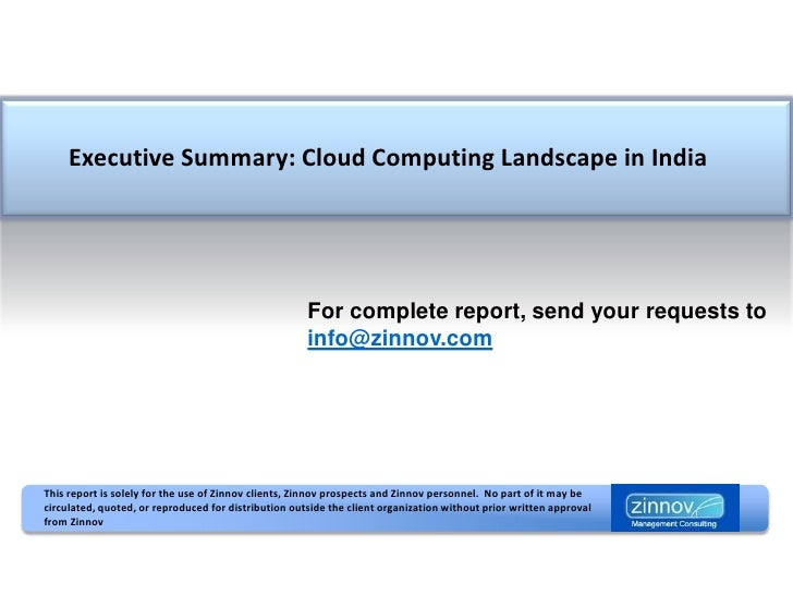 Cloud Computing Landscape in India
