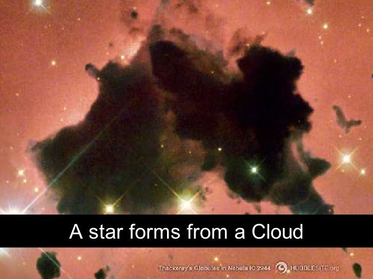 A star forms from a Cloud           Chris Sparshott