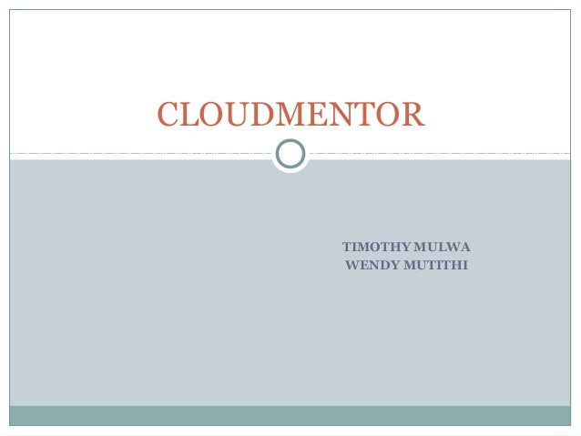 Cloudmentor: mentoring the disadvanteged in their search for a job.