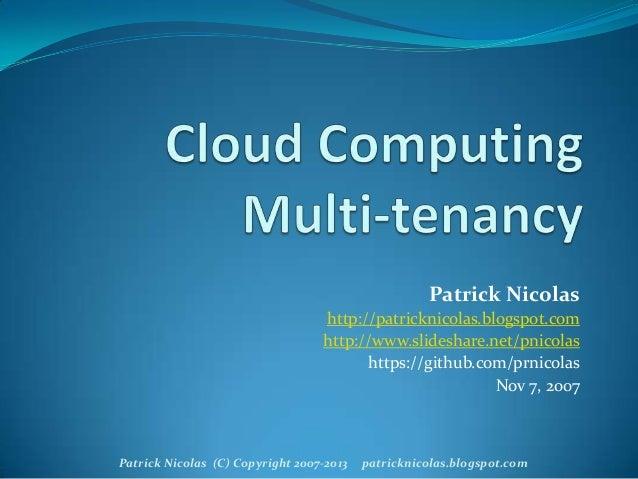 Multi-tenancy in Private Clouds