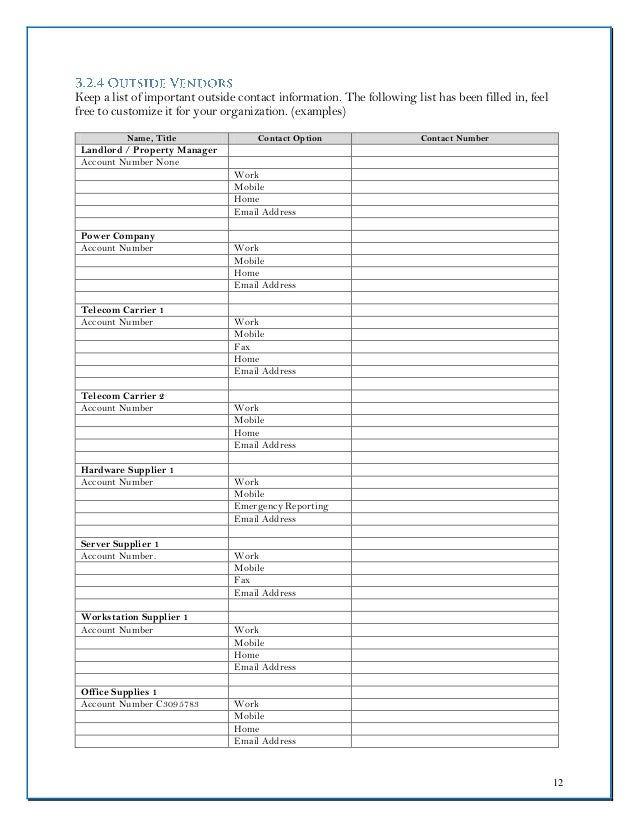 Cloudnition Dr Plan Template Fillable Form