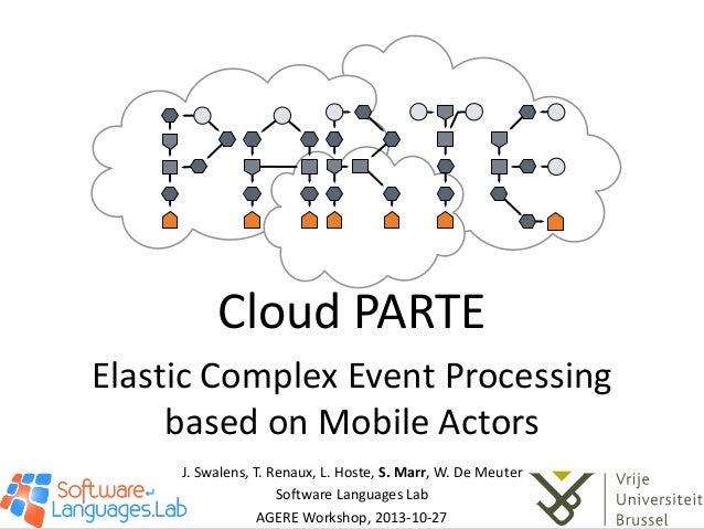 Cloud PARTE: Elastic Complex Event Processing based on Mobile Actors