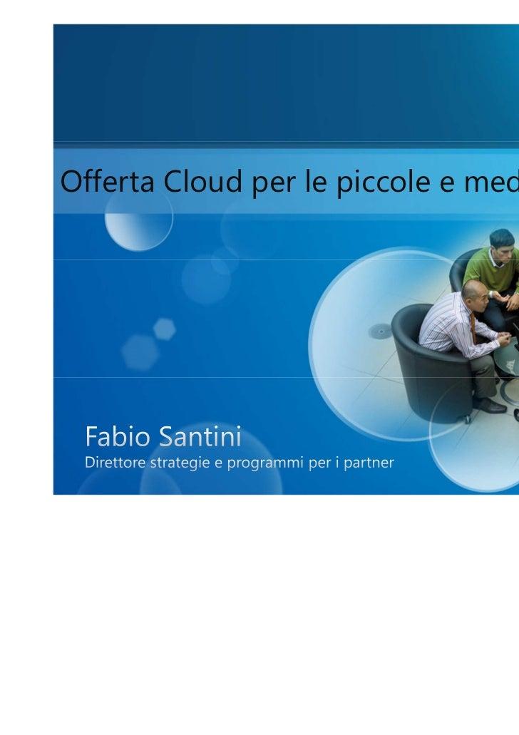 Offerta Cloud per le piccole e medie imprese