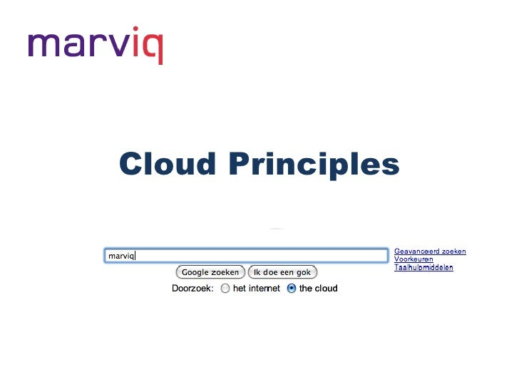 Cloud Principles