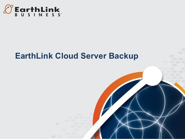 EarthLink Cloud Server Backup