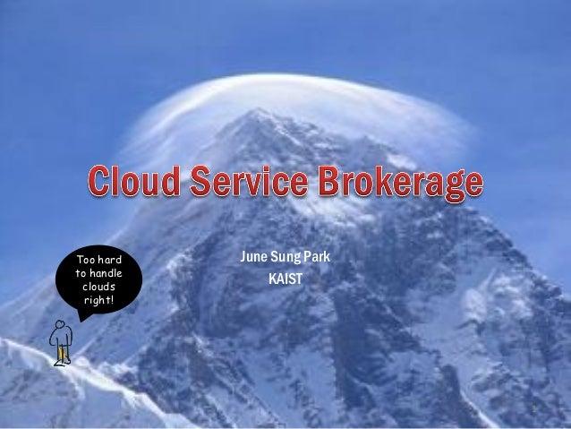 Cloud service brokerage