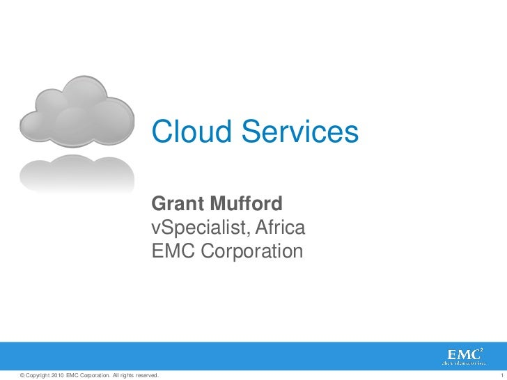 Cloud Services                                                   Grant Mufford                                            ...