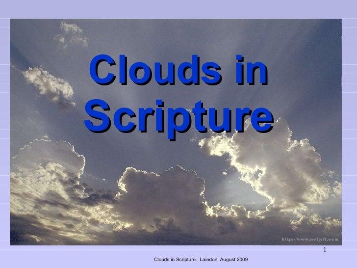 Clouds In Scripture