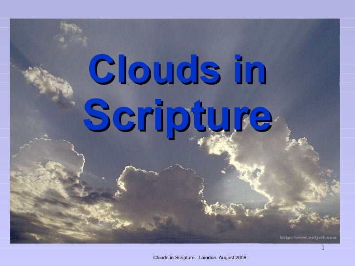 Clouds In Scripture