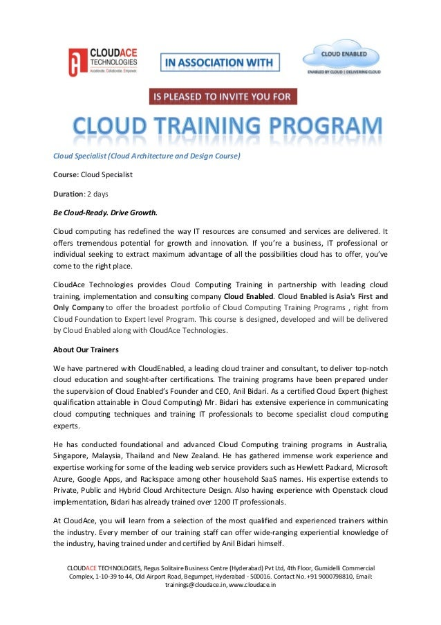 Cloud Specialist Training