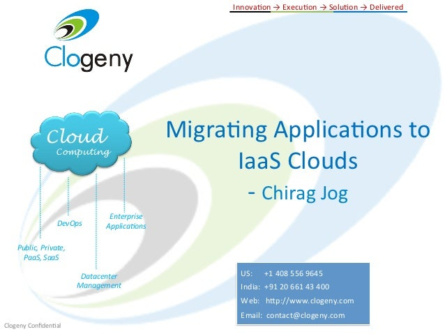 CloudStack Hyderabad Meetup: Migrating applications to IaaS clouds