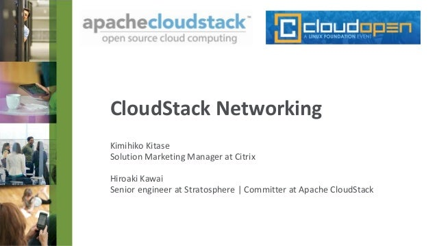 CloudStack Networking at CloudOpen Japan