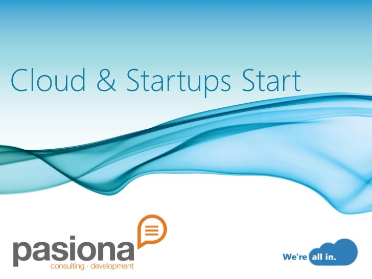 Cloud&startups start