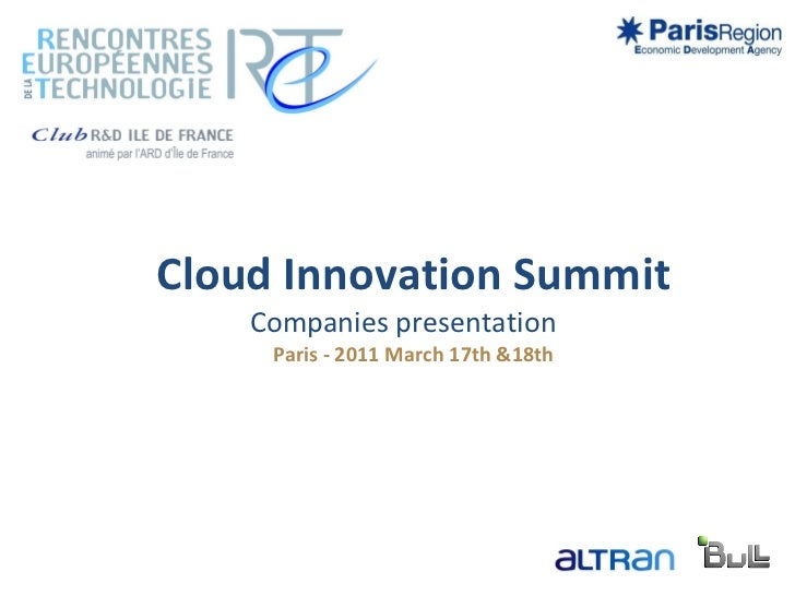 Cloud summit companies presentation