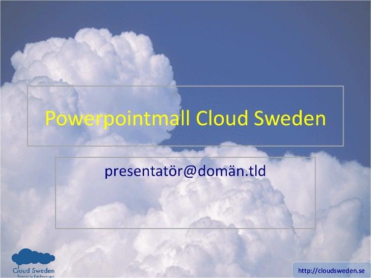 Cloud sweden Powerpointmall PPT