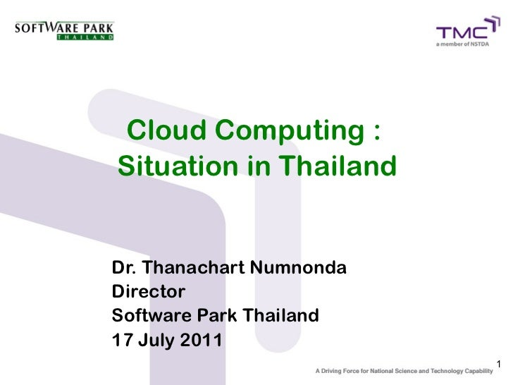 Cloud Computing : Situation in Thailand