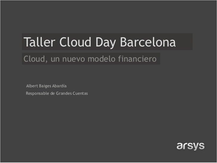 Cloud, un nuevo modelo financiero - V Cloud Day