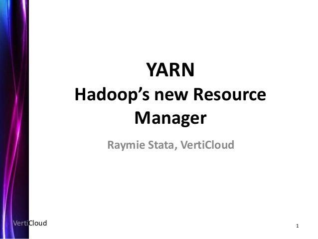 YARN - Hadoop's Resource Manager