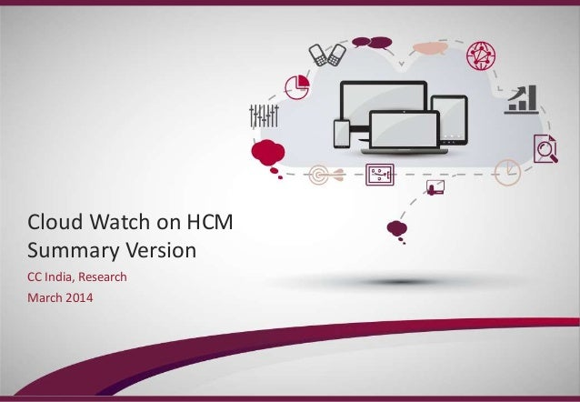 Cloud watch on HRMS solutions Q1 2014 final - preread