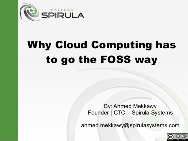 Why Cloud Computing has to go the FOSS way