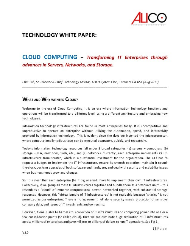 Cloud white paper v3.0