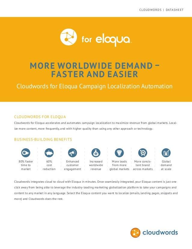Cloudwords for Oracle Eloqua