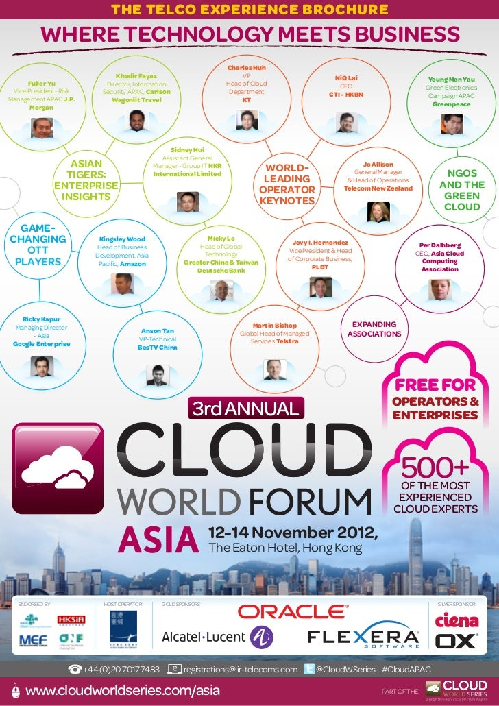 Cloud world forum APAC brochure