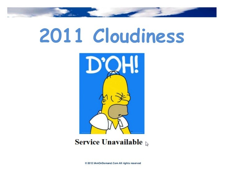 Cloudy issues   2012