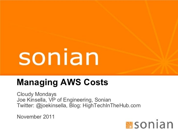 Managing Amazon AWS Costs