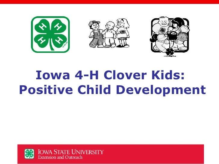 Iowa 4-H Clover Kids Positive Child Development