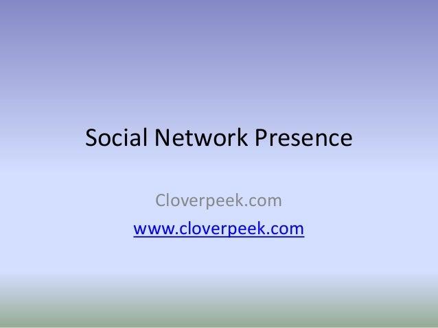 Cloverpeek on Social Network