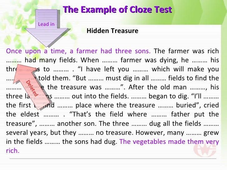 Cloze test and c test