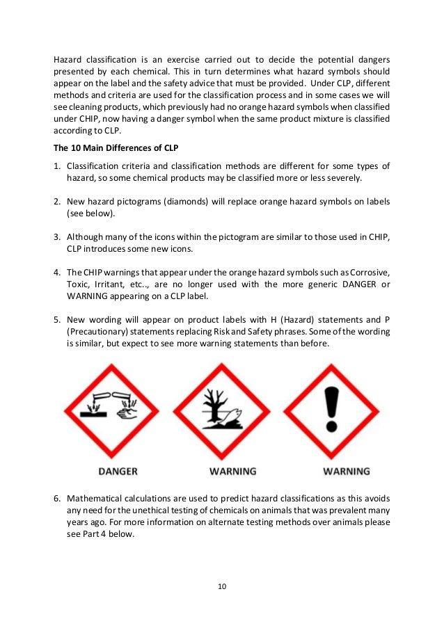 10 Hazard Classification is an