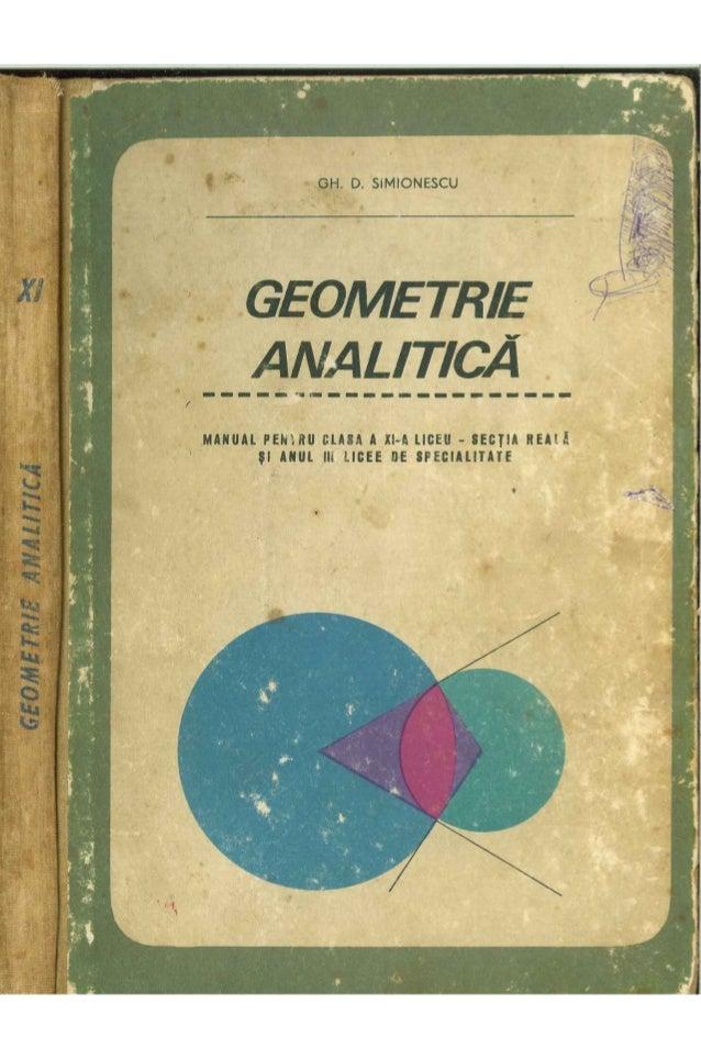 Cls 11 manual_geometrie_analitica_xi_1967