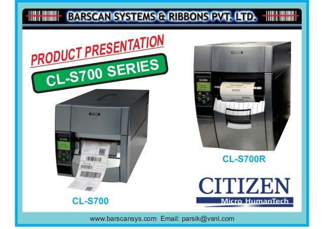 T PRESE NTATIONPRODUC     S700 S ERIES  CL-                                                CL-S700R        CL-S700        ...