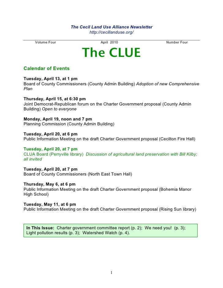 Clua newsletter 201004