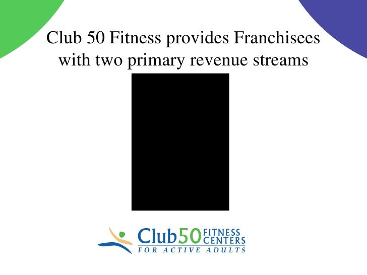 Club 50 Fitness provides Franchisees with two primary revenue streams