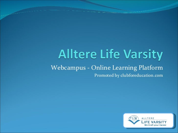 Webcampus - Online Learning Platform Promoted by clubforeducation.com