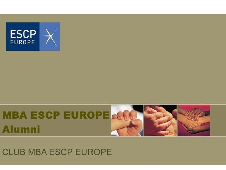 CLUB MBA ESCP EUROPE   MBA ESCP EUROPE Alumni