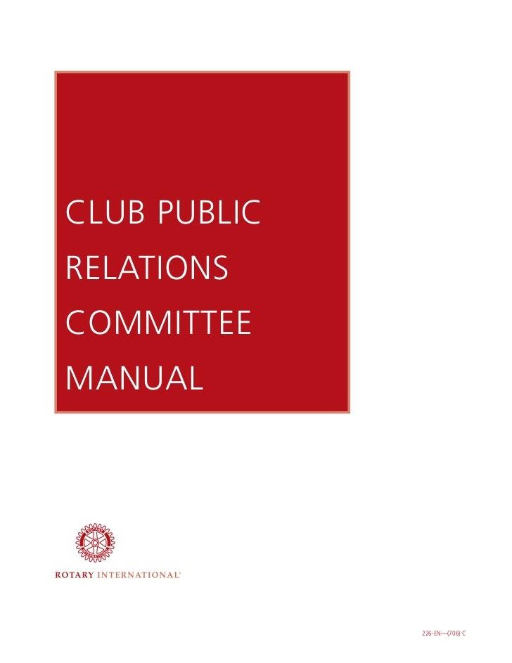 CLUB PUBLICRELATIONSCOMMITTEEMANUAL              226-EN—(706) C