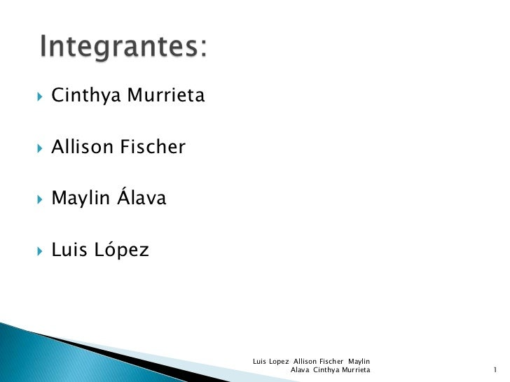   Cinthya Murrieta   Allison Fischer   Maylin Álava   Luis López                       Luis Lopez Allison Fischer May...