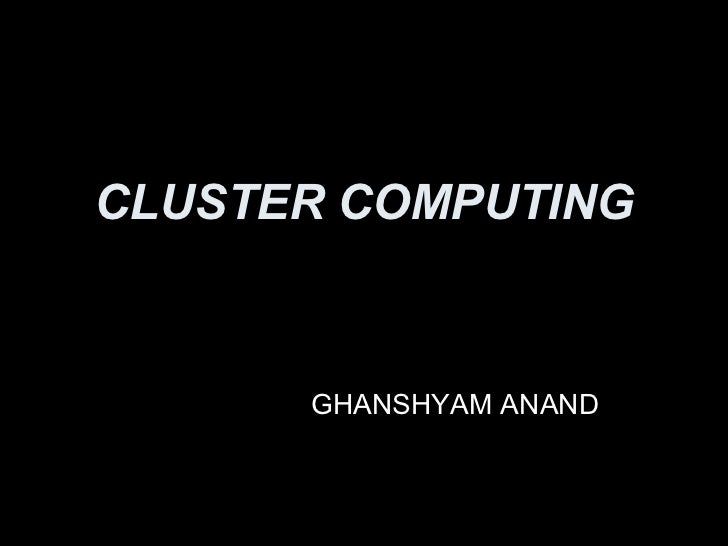 Cluster computing2