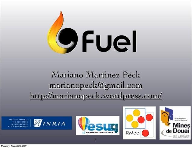 RMod 1 Mariano Martinez Peck marianopeck@gmail.com http://marianopeck.wordpress.com/ Monday, August 22, 2011