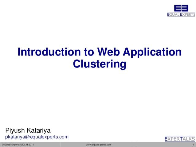 Introduction to Web Application Clustering