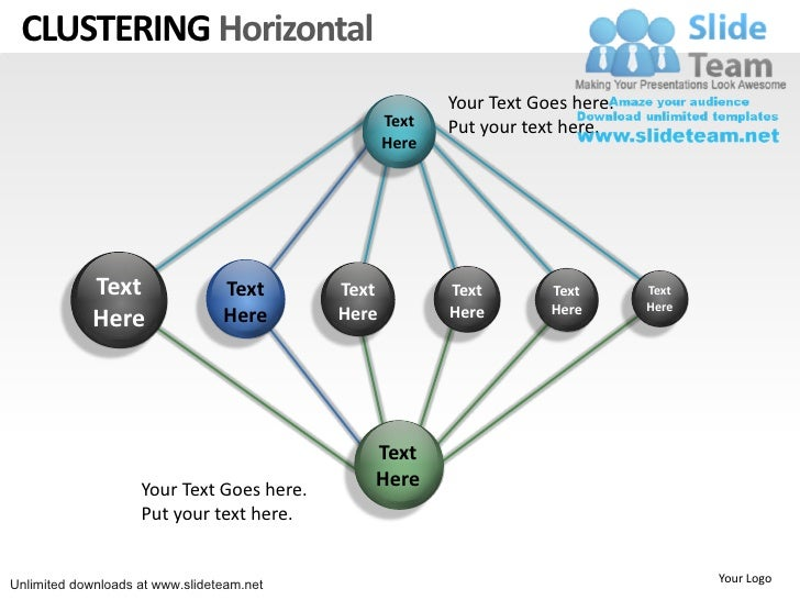 Clustering network internet power point slides and ppt diagram templates