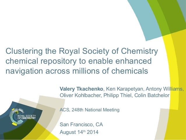 Clustering the royal society of chemistry chemical repository to enable enhanced navigation across millions of chemicals